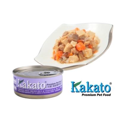 Kakato 卡格餐食罐 (雞、牛、糙米、蔬菜)70g 鮮食 貓狗共食  貓罐 狗罐 天然罐 挑食