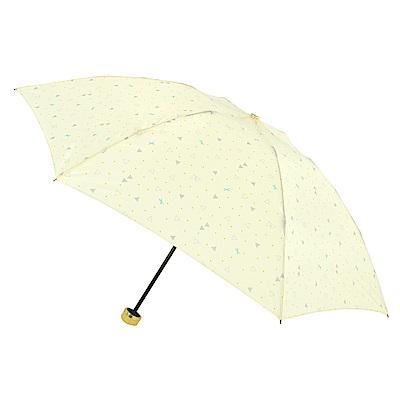 2mm 清漾幾何 晴雨兩用抗UV輕量手開傘 (黃色幾何)