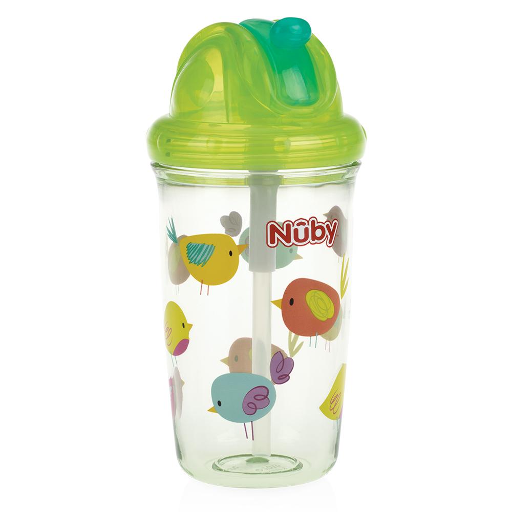 (均一價199)Nuby晶透學飲杯細吸管/魔術學習水杯(多款可選) product image 1