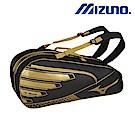 MIZUNO 美津濃 雙肩背袋6支入裝 黑黃 63JD800695