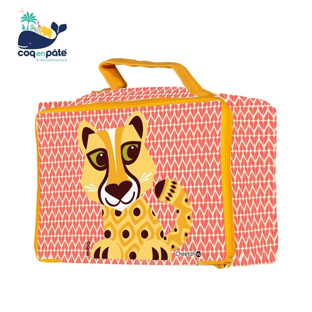【COQENPATE】法國有機棉無毒環保布包- 方方兒拎出門 - 獵豹寶寶