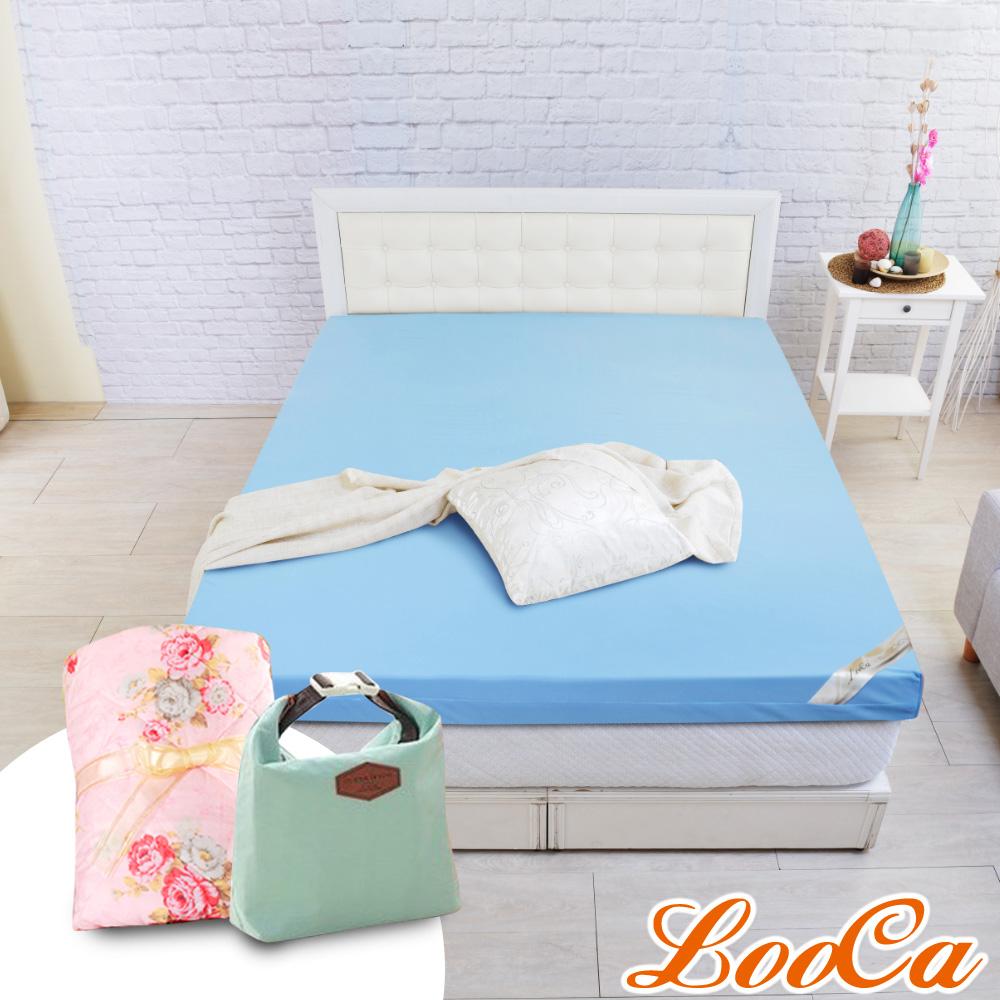 (母親節特惠組)LooCa 雙認證竹炭10cm彈力記憶床墊-加大6尺