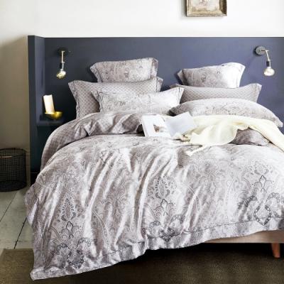 Saint Rose頂級精緻100%天絲床罩八件組(包覆高度35CM)-無聲的詩 特大