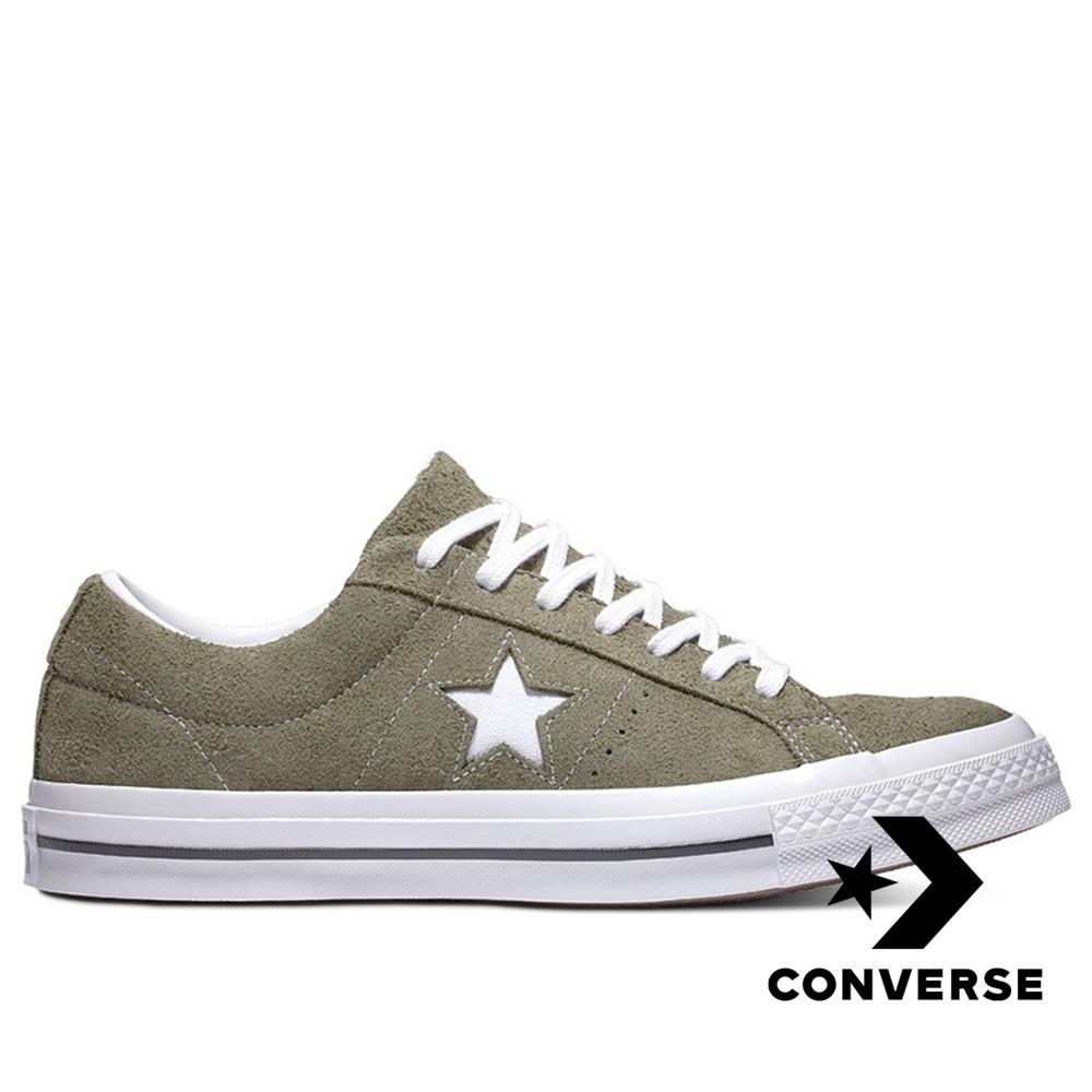 CONVERSE-ONE STAR男女休閒鞋-墨綠