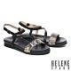 涼鞋 HELENE SPARK 質感時髦流線造型楔型低跟涼鞋-米 product thumbnail 1