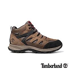 Timberland男款淺棕色絨面SadlerPass健行鞋/靴 A1QF1