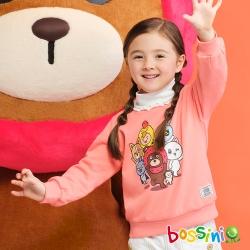 bossini女童-荔枝熊圓領厚棉T恤01桃