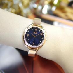 NATURALLY JOJO / 浪漫星空 閃耀晶鑽 不鏽鋼手錶-藍x玫瑰金/31mm