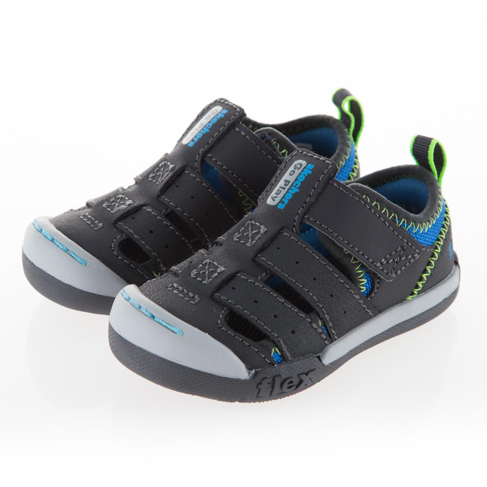 SKECHERS 男嬰童 涼拖鞋系列FLEX PLAY - 97883NCCBL