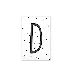 Dailylike 英文字母插畫明信片-04 D