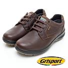 Grisport 義大利進口-高質感綁帶厚底真皮休閒鞋-咖啡色