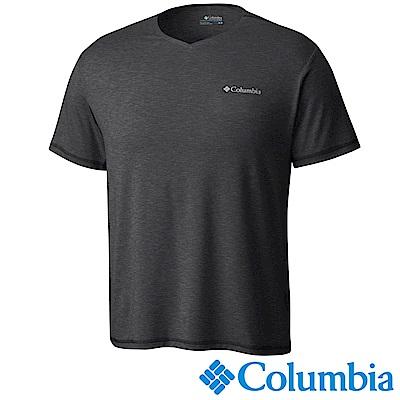 Columbia 哥倫比亞 男款-快排防曬50短袖V領上衣-UAO00680