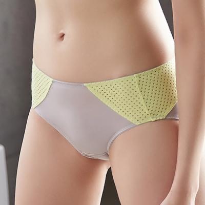 蕾黛絲-LadieSport好運動平口內褲 M-EL 勁黃灰