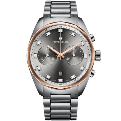 Favre-Leuba 域峰錶 Sky Chief Chronograph 雙眼機械計時手錶(00.10202.05.31.20)