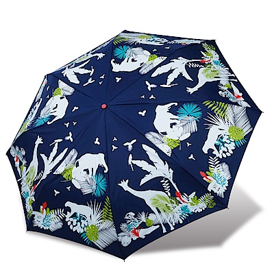 RAINSTORY 叢林嘉年華抗UV雙人自動傘(藍)
