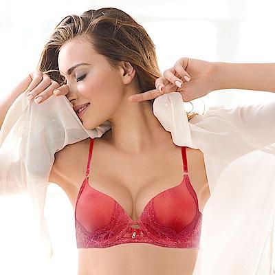 黛安芬-艾聖思 春梢系列 B-D罩杯內衣 玫瑰紅