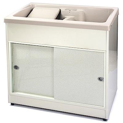 Aaronation 新型推門式雙槽塑鋼洗衣槽 GU-A1003