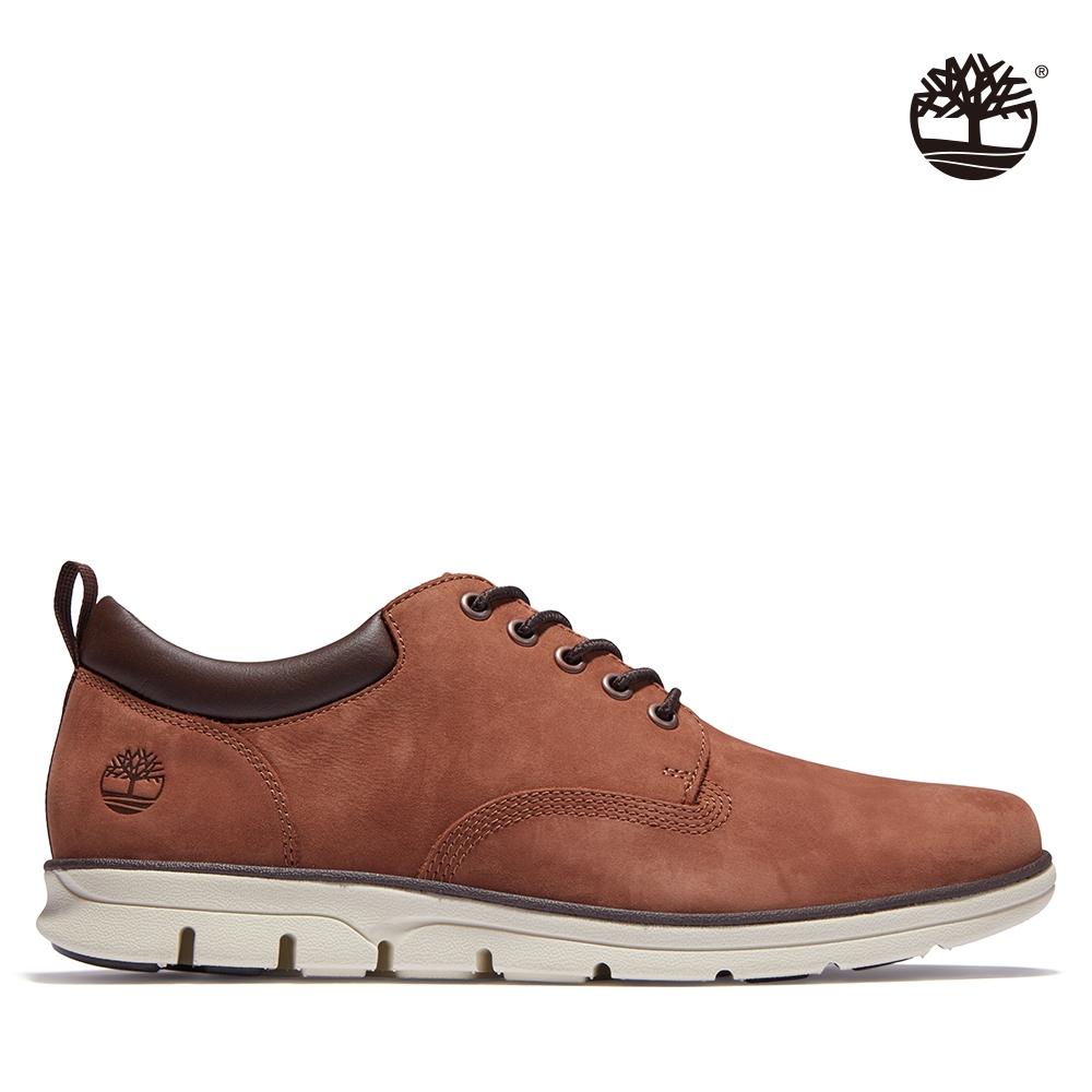 Timberland 男款中咖啡色Bradstreet磨砂革牛津休閒鞋 A2BBVA20
