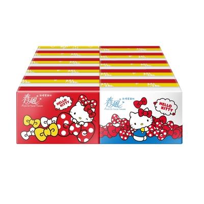 春風袖珍包面紙 10抽x30包/串 Hello Kitty雜貨風