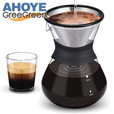 GREEGREEN 手沖咖啡壺 400mL 免濾紙雙層過濾