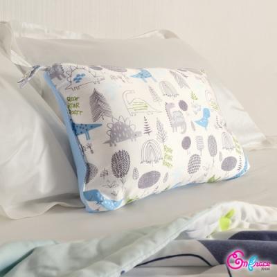 Embrace英柏絲 喬治的恐龍-白 100%天絲兒童水洗枕30x50cm 幼稚園午睡枕 靠枕