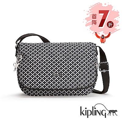 Kipling 斜背包 簡約菱格-中