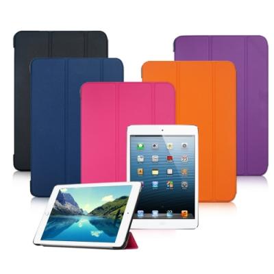 VXTRA Apple iPad Pro 12.9吋 經典皮紋超薄三折保護套