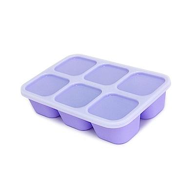 【MARCUS&MARCUS】動物樂園造型矽膠副食品分裝保存盒-鯨魚(紫)