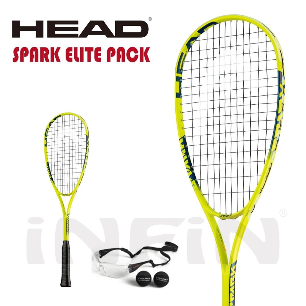 【HEAD】壁球拍 SPARK ELITE PACK 190g 黃/黑 214119