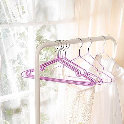 樂嫚妮 覆膜防滑三角曬衣架 30支-羅蘭紫