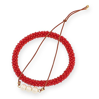 JewCas Lucky Barcelect系列棉珍珠幸運手環