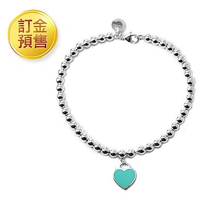 [訂金預售]Tiffany&Co. 迷人愛心/圓牌圓珠純銀手鍊(多款可選)