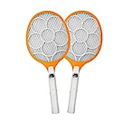 (2入組)KINYO LED三層防觸電捕蚊拍電蚊拍(CM-2225)外接線充電