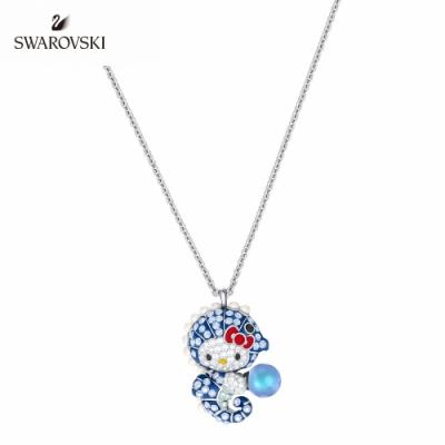 施華洛世奇 Hello Kitty Seahorse 白金色凱蒂貓海馬珍珠項鏈