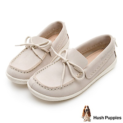 Hush Puppies Albatross 牛皮休閒鞋-白色