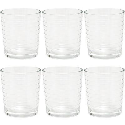 EXCELSA Parigi圈紋玻璃杯6入(260ml)