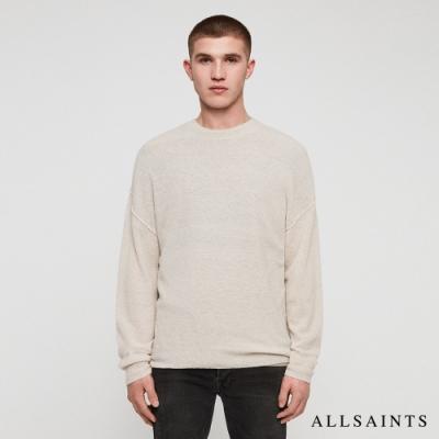 ALLSAINTS RIDGE 柔軟舒適素色羊毛混紡針織上衣-白