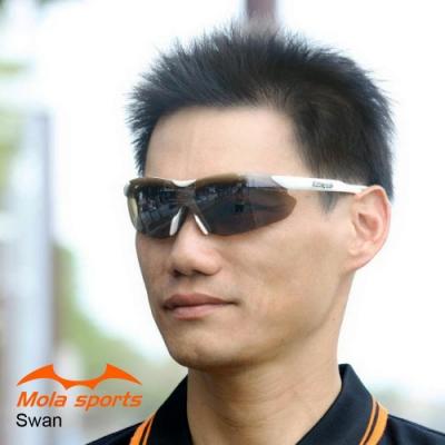 MOLA摩拉運動太陽眼鏡 男女可戴 UV400 跑步自行車登山 Swan_wb