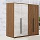 D&T 德泰傢俱 DINO清水模風格5.3尺單吊+雙吊衣櫃-160x57x202cm product thumbnail 1