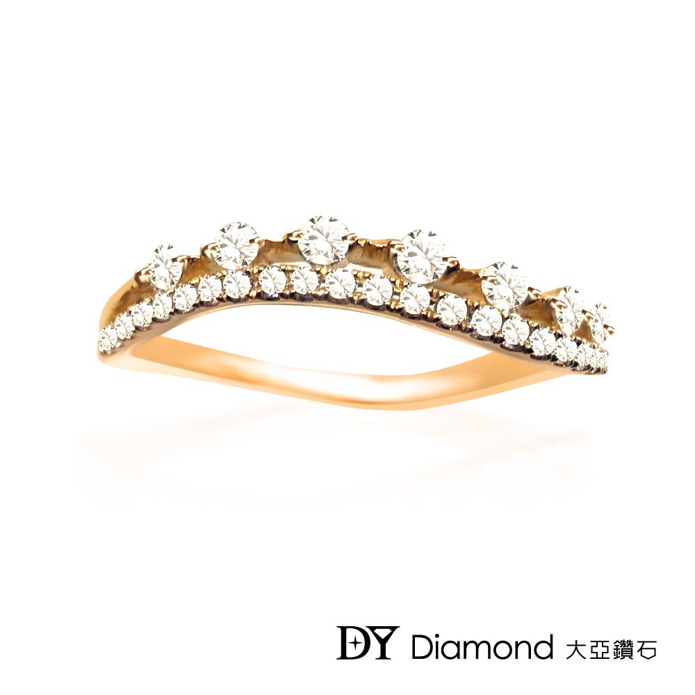 DY Diamond 大亞鑽石  L.Y.A輕珠寶 18K玫瑰金 輕奢 鑽石線戒