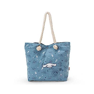 Sanrio 大耳狗喜拿快樂生活系列丹寧帆布大容量手提袋