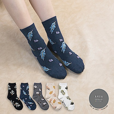 阿華有事嗎 韓國襪子 秋冬落葉中筒襪 韓妞必備長襪 正韓百搭純棉襪
