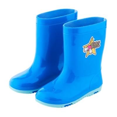 迪士尼童鞋 米奇 趣味造型中筒雨鞋-藍