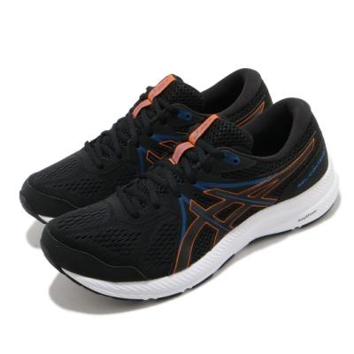 Asics 慢跑鞋 Gel-Contend 7 運動 男鞋 亞瑟士 基本 緩震 透氣 亞瑟膠 黑 橘 1011B040004