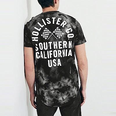 海鷗 Hollister HCO 經典文字印刷圖樣設計短袖T恤-黑灰色