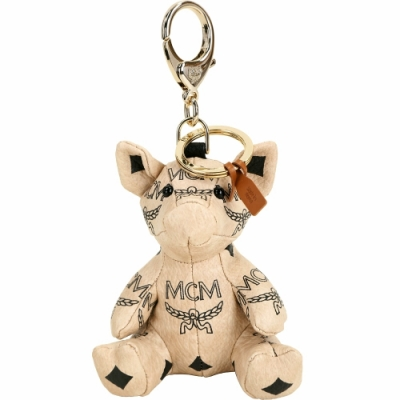 MCM Visetos Zoo Pig 小豬造型吊飾鑰匙圈(米色)