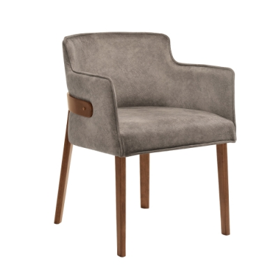 Boden-雷克實木布面扶手餐椅/單椅-54x58.5x74cm