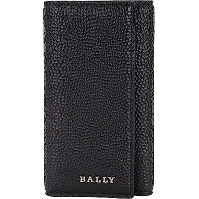 BALLY NANTOS 銀字壓紋小牛皮鑰匙包(黑色)