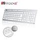 irocks K01巧克力超薄鏡面有線鍵盤-銀白色 product thumbnail 1