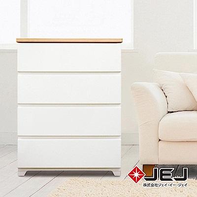 日本JEJ STYLE系列 木紋頂緩衝式滑軌抽屜櫃/760寬4抽